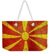 Grunge Macedonia Flag Weekender Tote Bag