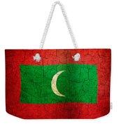 Grunge Maldives Flag Weekender Tote Bag