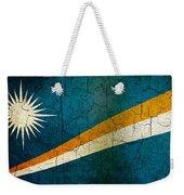 Grunge Marshall Islands Flag Weekender Tote Bag