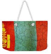 Grunge Mongolia Flag Weekender Tote Bag