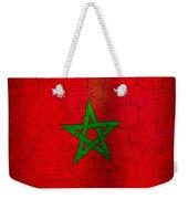 Grunge Morocco Flag Weekender Tote Bag