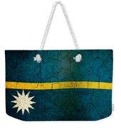 Grunge Nauru Flag Weekender Tote Bag