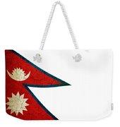 Grunge Nepal Flag Weekender Tote Bag