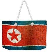 Grunge North Korea Flag Weekender Tote Bag