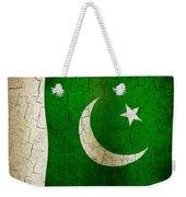 Grunge Pakistan Flag Weekender Tote Bag