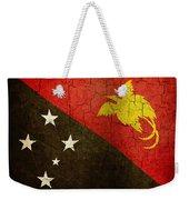 Grunge Papua New Guinea Flag Weekender Tote Bag