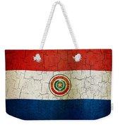 Grunge Paraguay Flag Weekender Tote Bag