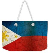 Grunge Philippines Flag Weekender Tote Bag