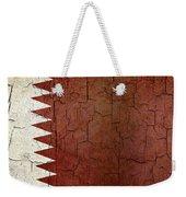 Grunge Qatar Flag Weekender Tote Bag