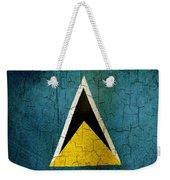 Grunge Saint Lucia Flag Weekender Tote Bag