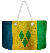 Grunge Saint Vincent And The Grenadines Flag Weekender Tote Bag