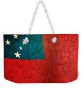 Grunge Samoa Flag Weekender Tote Bag