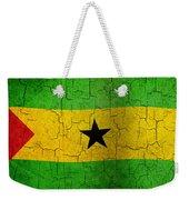 Grunge Sao Tome And Principe Flag Weekender Tote Bag