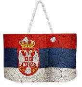 Grunge Serbia Flag Weekender Tote Bag