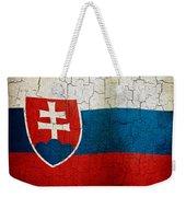 Grunge Slovakia Flag Weekender Tote Bag