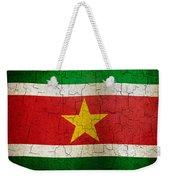Grunge Suriname Flag Weekender Tote Bag