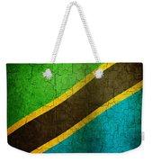 Grunge Tanzania Flag Weekender Tote Bag