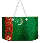 Grunge Turkmenistan Flag Weekender Tote Bag