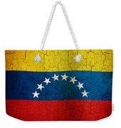 Grunge Venezuela Flag Weekender Tote Bag