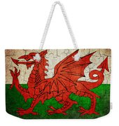 Grunge Wales Flag Weekender Tote Bag