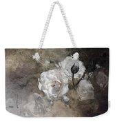 Grunge White Rose Weekender Tote Bag
