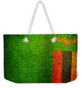 Grunge Zambia Flag Weekender Tote Bag