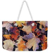 Grungy Autumn Leaves Weekender Tote Bag