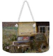 Grungy Vintage Ford Panel Truck Weekender Tote Bag