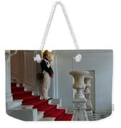 Guard At Catherine Palace In Russia Weekender Tote Bag