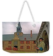 Guard At King's Bastion In Louisbourg Living History Museum-1744 Weekender Tote Bag
