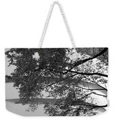Guggenheim And Trees In Black And White Weekender Tote Bag