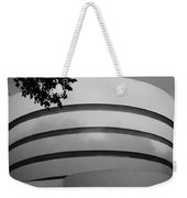Guggenheim In The Round In Black And White Weekender Tote Bag