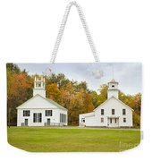Guildhall Village Historic District In Autumn Vermont Weekender Tote Bag
