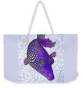 Guinea Fowl Puffer Fish In Purple Weekender Tote Bag