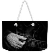 Guitar And Hand Bw Weekender Tote Bag