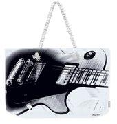 Guitar - Black And White Weekender Tote Bag