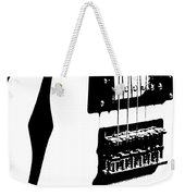 Guitar Graphic In Black And White  Weekender Tote Bag