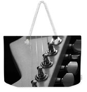 Black And White Guitar Weekender Tote Bag