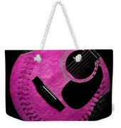 Guitar Raspberry Baseball Weekender Tote Bag