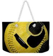 Guitar Yellow Baseball Square Weekender Tote Bag