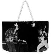 Guitarists Stevie Ray Vaughan W Jeff Beck Weekender Tote Bag