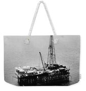 Gulf Of Mexico Oil Rig, 1950 Weekender Tote Bag
