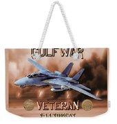 Gulf War Veteran F-14 Tomcat  Weekender Tote Bag