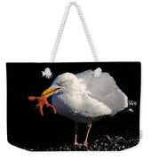 Gull With Starfish Weekender Tote Bag