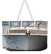Gulls And Boat Weekender Tote Bag