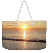 Gulls Dance In The Warmth Of The New Day Weekender Tote Bag