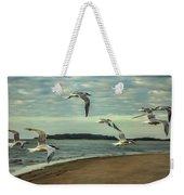 Gulls In Flight Weekender Tote Bag