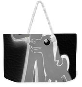 Gumby And Pokey B F F In Negative Black And White Weekender Tote Bag