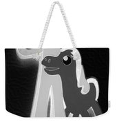Gumby And Pokey B F F In Negative B W  Weekender Tote Bag