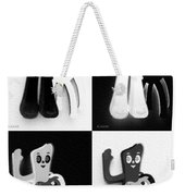 Gumby And Pokey B F F In Quad Shades 1 Weekender Tote Bag